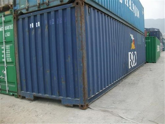 China Blue Used Metal Shipping Containers International Standards Dry Cargo Container supplier