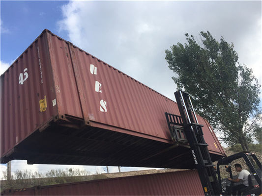 Steel Dry 2nd Hand Shipping Containers For Road Transport