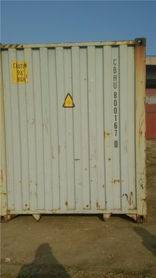 China White Steel Old 20GP Used Freight Containers Strong And Durable supplier