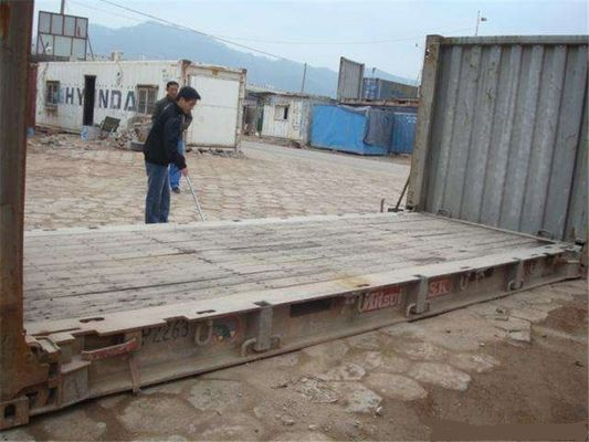 China Shipping Flat Rack Used Steel Storage Containers 20GP 6.06m Length supplier