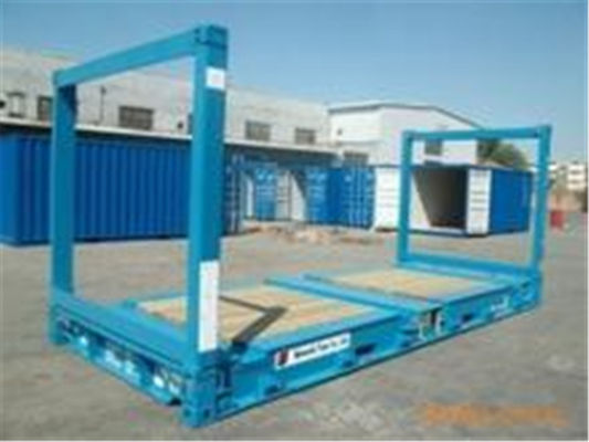 China 20gp Steel Dry Used Flat Rack Containers / Flat Rack Shipping Container supplier