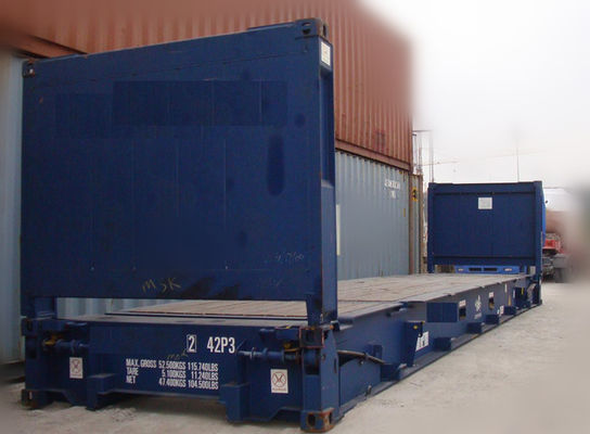 China Second Hand 20ft Flat Rack Container / Used Sea Box Containers For Sale supplier
