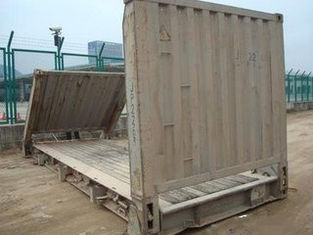 China 33 Cbm Dry Used Flat Rack Containers Dimensions 5.90m* 2.35m*2.39m supplier