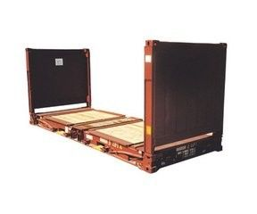 China steel dry Used Flat Rack Containers 20GP Payload 28000kg used steel storage containers supplier