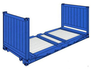 China Shipping Used Flat Rack Containers 20 Feet Payload 28000kg For Warehousing supplier