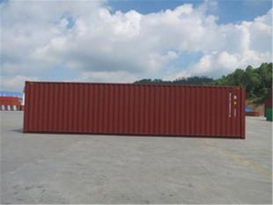 Metal RED High Cube Shipping Container International Standards 13.71m Length