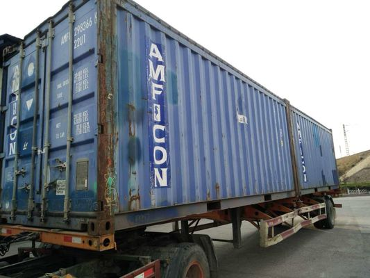 40 Ft / 20 Ft Old Prefab Container Housefor Storage Red In Steel