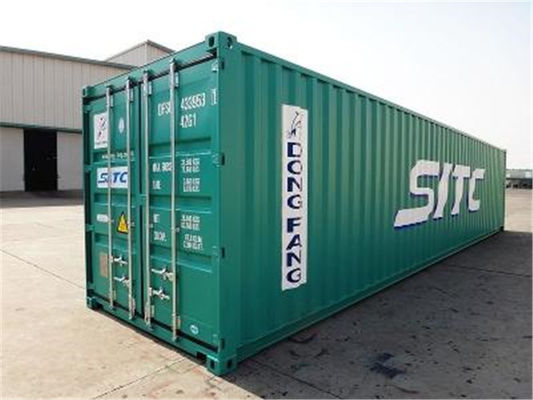 China Steel Dry Used Metal Shipping Containers 20 Feet 33 Cbm For Road Transport distributor