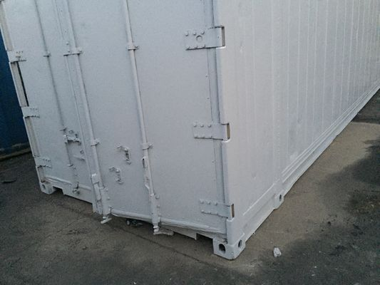 China White Second Hand High Cube Reefer Container  / 45 Hc Container distributor