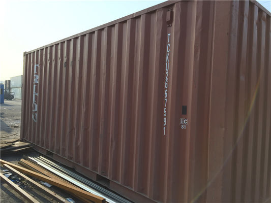 China 33 Cbm Steel 20 Foot Storage Container For Cargo Shipping / Intermodal Transport distributor