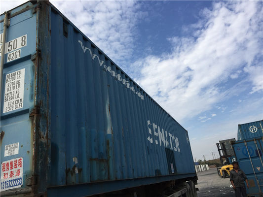 China Blue 20' 2nd Hand Shipping Containers / Second Hand Steel Containers distributor
