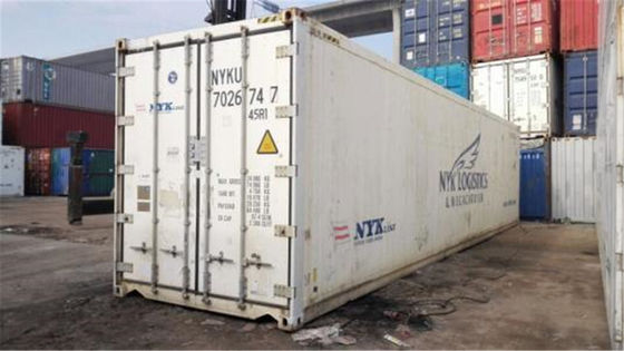 China Steel Used Reefer Container / Used Freezer Container For Shipping distributor