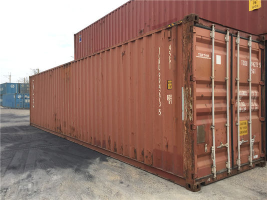 China 45ft  High Cube Second Hand Steel Containers For Land Ocean Transport distributor