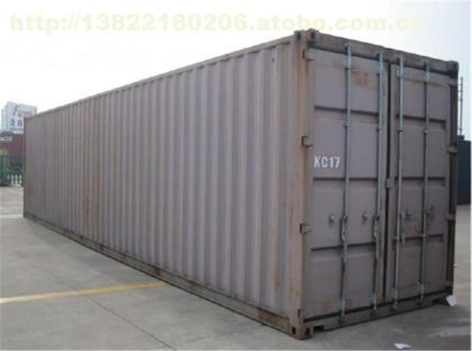 45HQ Second Hand Goods High Cube Shipping Container RED Color