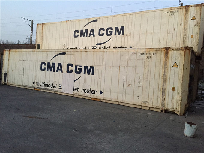 Used High Cube Shipping Container Dimensions 13.7m / Reefer Storage Containers