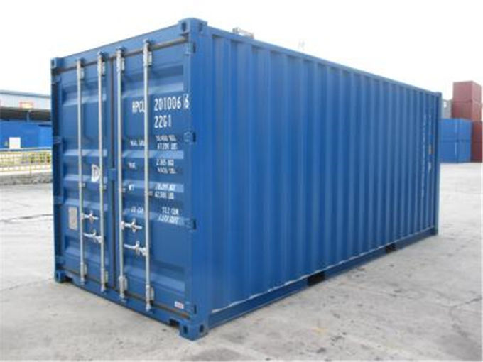 20gp Steel Dry Purchase Used Cargo Containers / Blue International Container